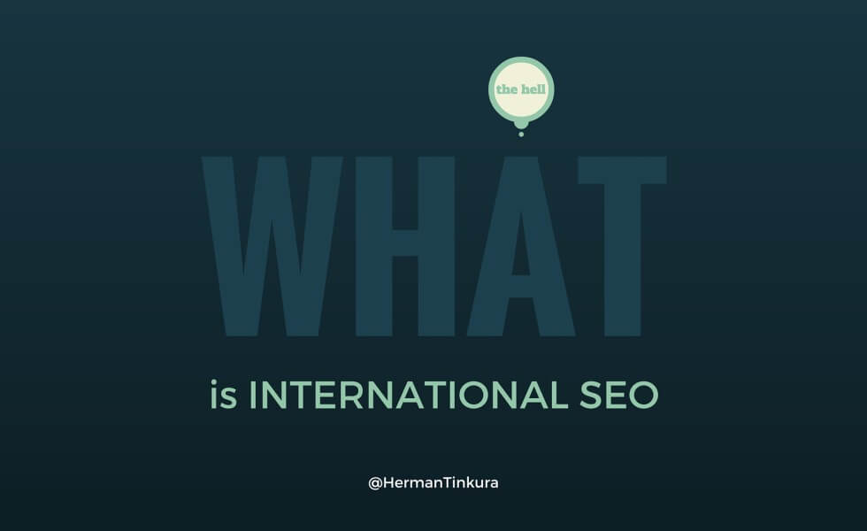 what the hell is international SEO